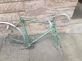 Rare 1948 Raleigh Clubman frame and parts