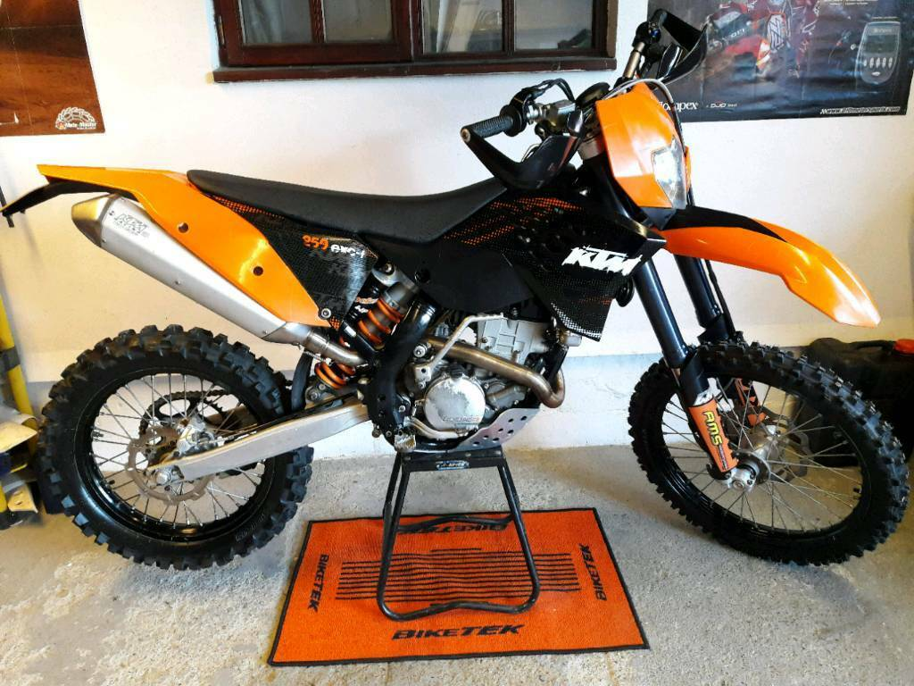 2008 ktm exc f 250 only 1768 miles very original 350 450 125 exc250 excf road legal enduro. Black Bedroom Furniture Sets. Home Design Ideas