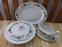 "Royal Doulton White Translucent China with ""Larchmont"" design - 60 Pieces"