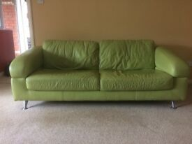Leather 2 seat sofa with two seats (3 piece)