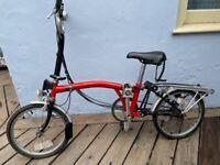Brompton Bike. 90s. Red.