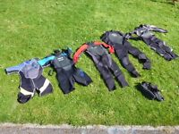 6 Childrens wetsuits for ages 7-12