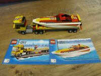 Lego City 4643 Transporter and boat complete with instruction books