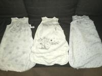 3 x 0-6 month sleeping bags