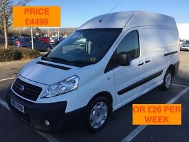 2007 FIAT SCUDO 2.0 HDI / NEW MOT / PX WELCOME / NO VAT / LONG WHEEL BASE / HIGH TOP / WE DELIVER