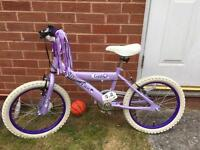 "Children bike 18"" purple"