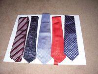 Five mens Ties.