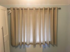 Light brown/beige eyelet curtains for sale. Excellent condition.