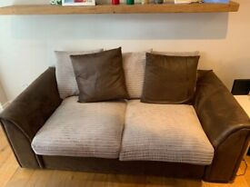 Dunelm Bryon Sofa Bed-Brown & Beige (GREAT VALUE! :))