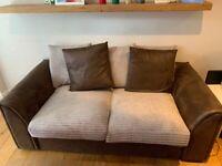 Dunelm Bryon Sofa Bed-Brown & Beige (GREAT VALUE! :))