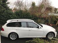 2010 White BMW 318D SE Touring Auto (Tan Leather)