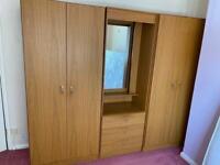 Triple wooden wardrobe £70