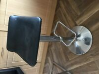 X2 Black Adjustable Kitchen Stools