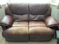 2 and 3 seater sofa each with power recliner