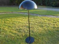 Ikea Modern Tall Black Metal Lamp