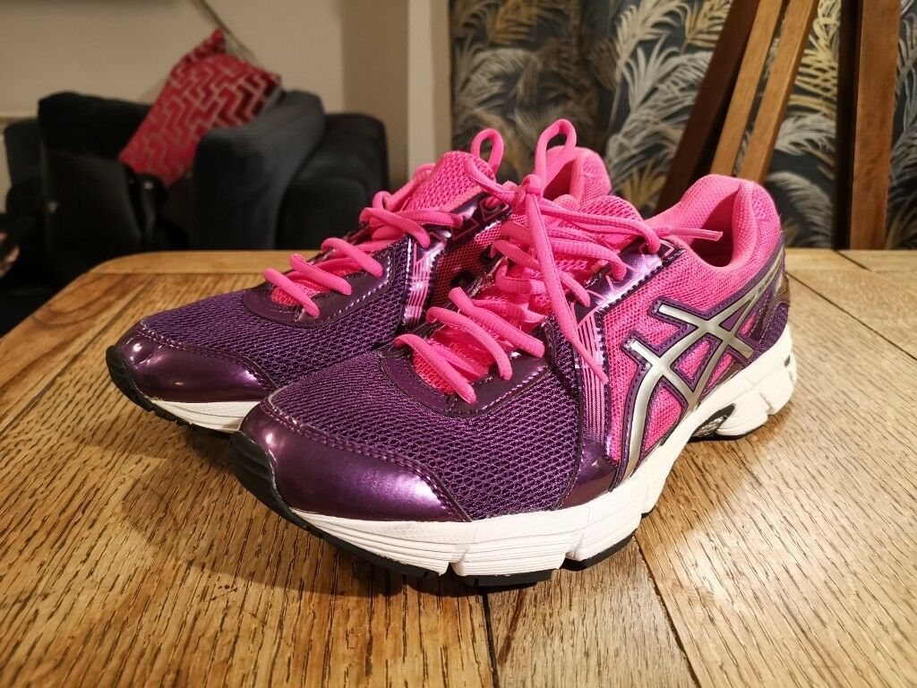 e14e18a02cab Ladies ASICS Gel-Impression Purple Pink RUNNING SHOES   Size 9 ...