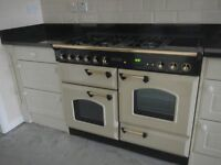 Rangemaster 110 cooker, hood and kitchen units