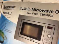 Baumatic BMIS3817 Built-In Solo Microwave - Stainless Steel