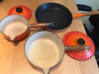 Original Le Creuset Pans Volcanic Orange ONO