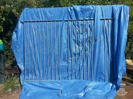Galvanised fencing and posts