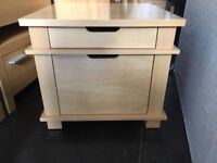Solid Cubed Saped Table with Drawers
