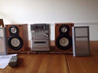 Sony Micro Hi-Fi system, CD, radio, tape, with remote control.