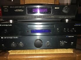 Cambridge Audio stereo system for sale (amp, CD, radio, speakers)