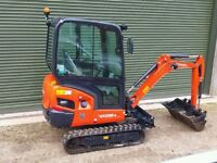 KUBOTA KX018-4 MINI DIGGER 1.8 ton 3 buckets £16,750+ Vat 2016 23hrs LAST 1 LEFT