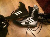 Boxing gloves x2 boxing boots x2 plus raps