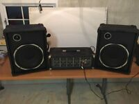 Peavey PA System suitable for community hall 2 Speakers and Amplifier