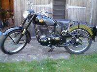 BSA C10 C10L Classic Vintage 1954 250cc Side Valve Motorcycle