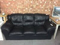 Black three seat sofa
