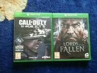 Xbox One games, CoD ghosts & Lords of the Fallen