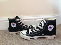 Ladies Black High Top All Star Converse - Size UK 3.5 - Excellent Condition