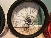 2x pairs of MTB disc full wheels