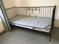 Black IKEA day bed (single bed) - excellent condition