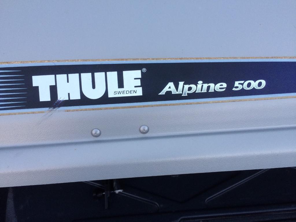 thule alpine 500 roof box in cullompton devon gumtree. Black Bedroom Furniture Sets. Home Design Ideas