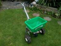 Commercial lawn seed spreader