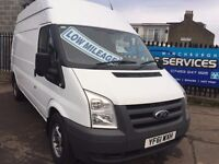 FORD TRANSIT 2.4TDCi 350L LWB LOW MILES SERVICE HISTORY HIGH ROOF EXCELLENT CONDITION SERVICED