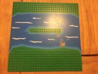 Vintage Lego Base Board With River