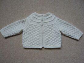 Matinee coat - baby boy, brand new, hand knitted