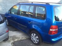VOLKSWAGEN TOURAN DIESEL 2005 7 SEATER FULL YEAR MOT EXCELLENT CONDITION