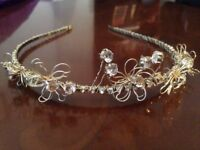 Vintage wedding tiara bride bridal floral diamonte