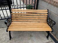 Garden Bench. Cast Iron Bench Ends, Garden Furniture, Table