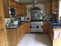 Solid wood pine fitted kitchen