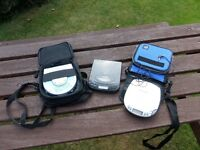 3 , cd players in carry cases