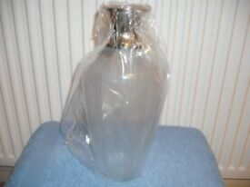 LANDON TYLER 30CM RIBBED GLASS VASE