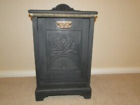 Antique wooden coal scuttle painted in Annie Sloan grey