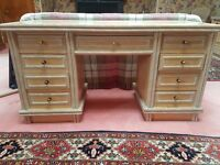 2 chests of drawers and a desk for sale separately or as a set