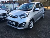 2013 Kia Picanto 1.2 Automatic, 14,000 miles, 12 MONTHS WARRANTY, Finance Available